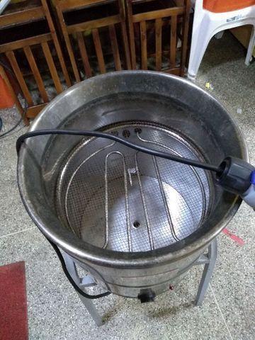 Fritadeira Elétrica POLI SIEMSEM Água e Óleo FC-N 24L Inox - 220V<br><br> - Foto 2