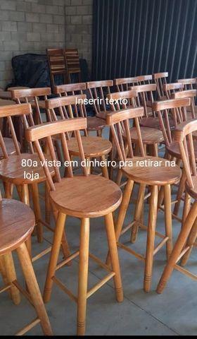 Banqueta de madeiras na mega promoção na loja (31)33545975 - Foto 2