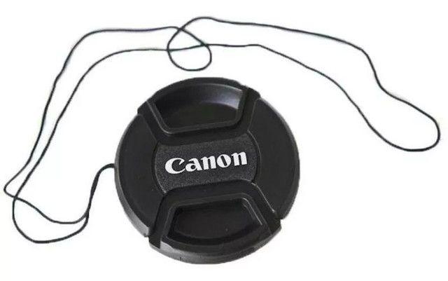 Tampa Canon Para Lente Objetiva 18-55mm T3i T4i T5i T6i - Ø 58mm 58 mm Diâmetro - Foto 2