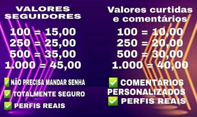 VENDA DE SEGUIDORES/CURTIDAS/COMENTÁRIOS  - Foto 2