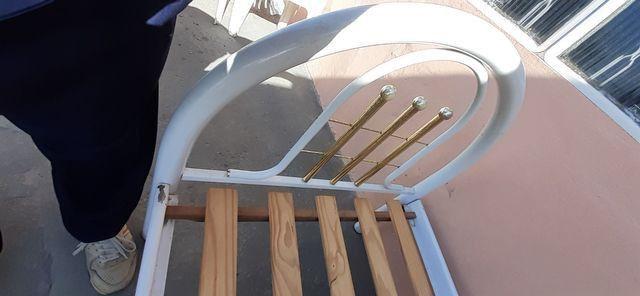 Cama de solteiro de ferro - Foto 5