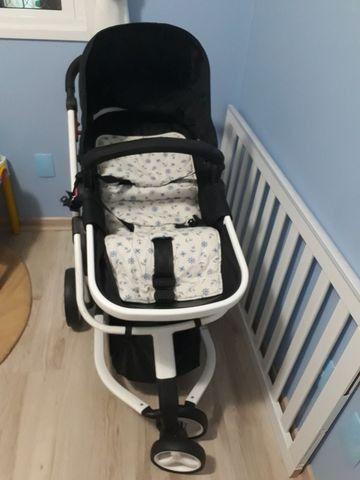 Carrinho de bebê Safety Mobi Branco - excelente estado  - Foto 2