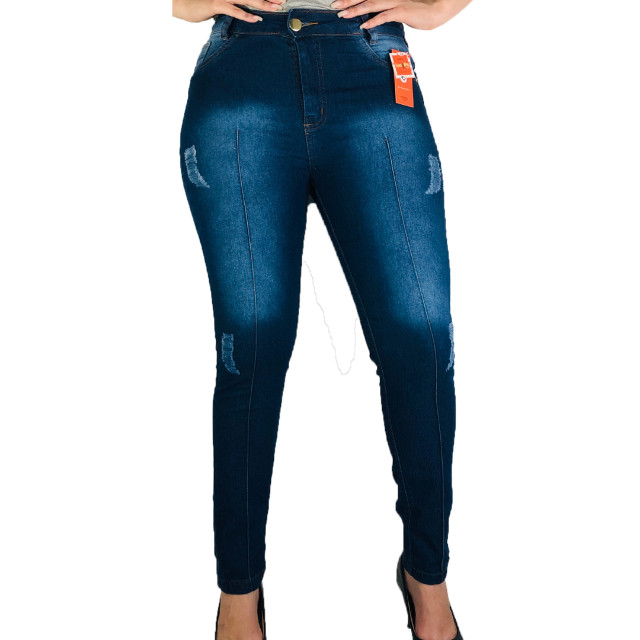 Kit 3 Calças Jeans Femininas com lycra - Frete grátis para SP - Foto 2