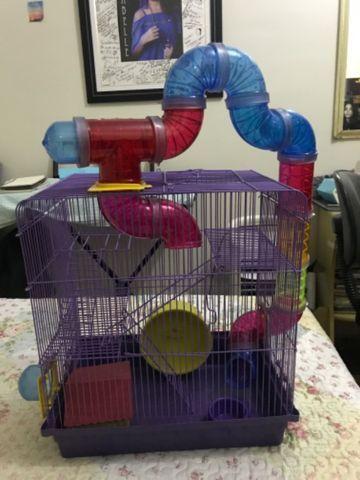 Gaiola para Hamster com labirinto