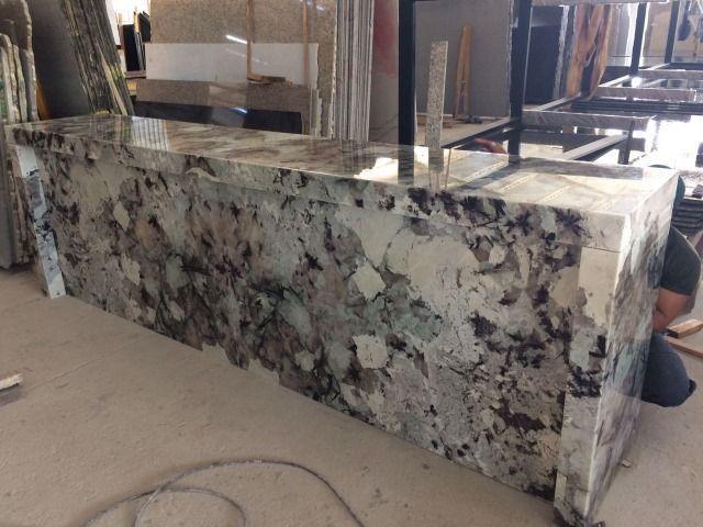 Balcão em Granito Exótico Translúcido Semi Precioso Tourmaline - Foto 3