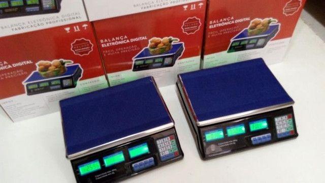 Balança Eletrônica Digital 40kg Alta Precisão C/bateria - Foto 2