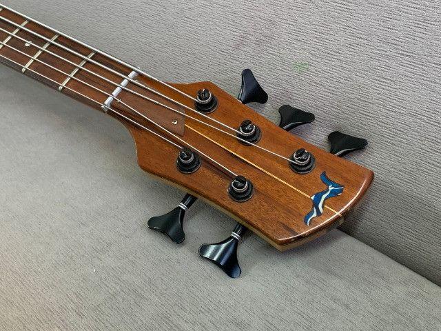 Baixo Fodera Emperor 5 de Luthier. Fantástico, lindo. Recebo o seu usado como parte - Foto 4