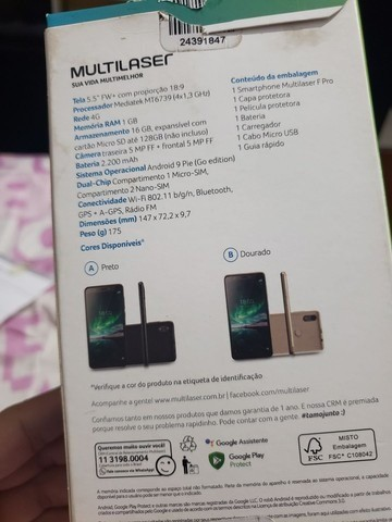 Dois aparelhos Multilaser f pro - Foto 2