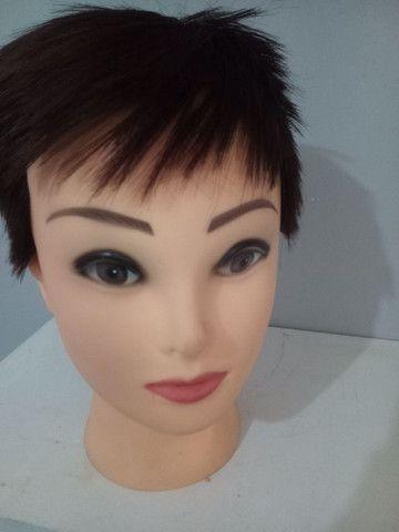 Cabeça para exposição de peruca Lace Front - Foto 3