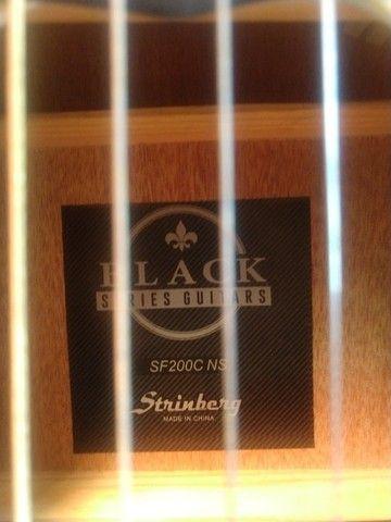 Violão strinberg flat Black sf200c - Foto 4