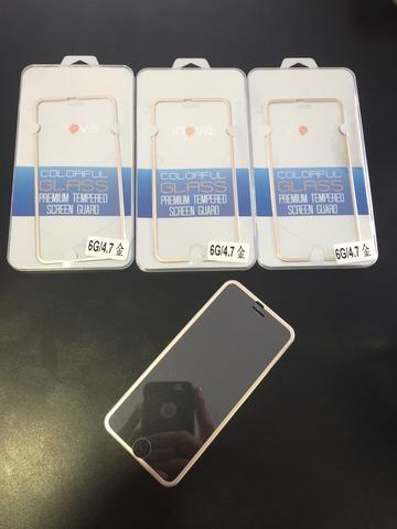 Película de vidro com borda iPhone 6/6S/7
