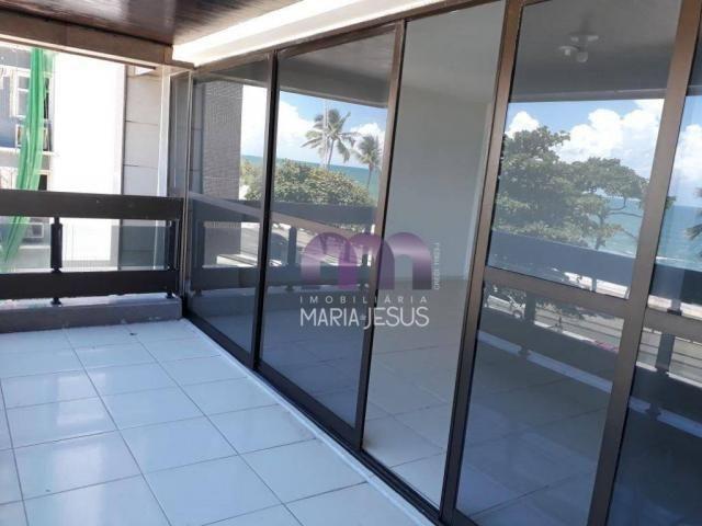 Apartamento com 4 quartos (1 suíte) para locação, na beira mar de Boa Viagem, Recife.
