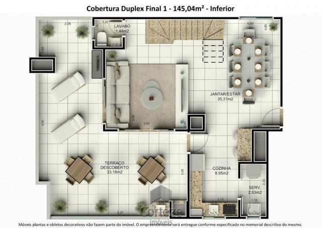 Cobertura duplex 3 quartos no Água Verde - Foto 16