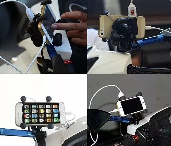 Suporte Garra Universal de Celular para Moto com carregador USB - Foto 5
