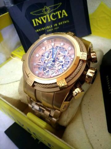 719dcfe3c69 Zeus Relógio Invicta Dourado - Bijouterias