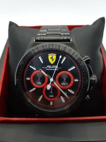 a80a96d830a Relógio Scuderia Ferrari Masculino Aço Preto - Novo - Bijouterias ...