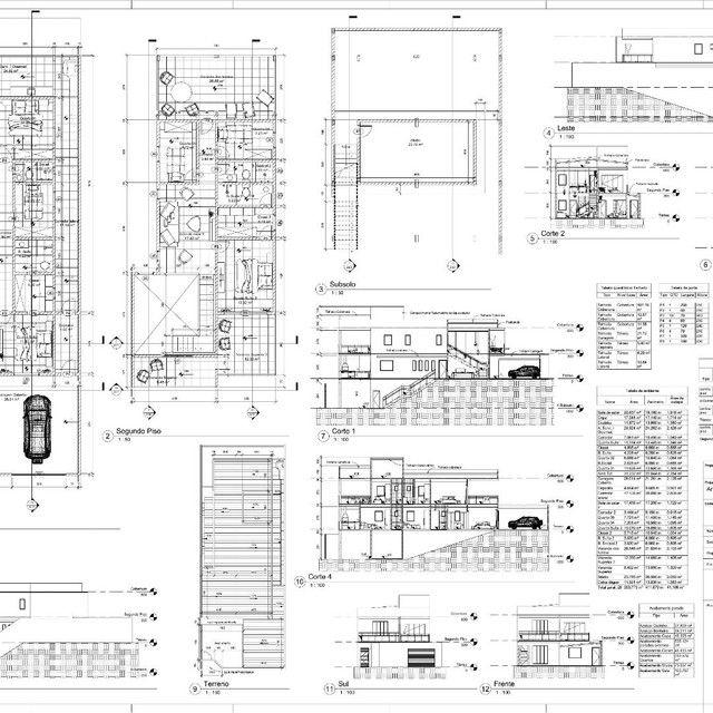 Plantas - Projetos arquitetônicos - legalização