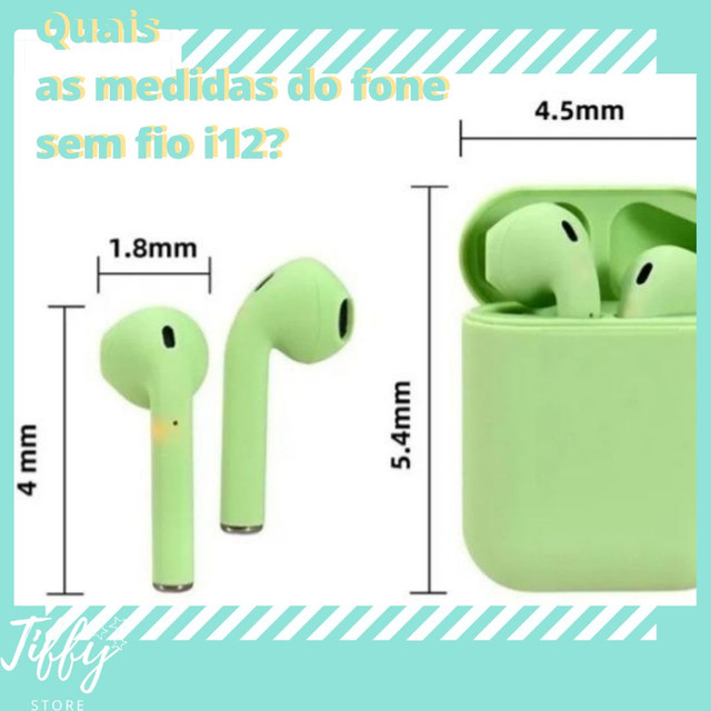 Fone de ouvido sem fio I12 cores inéditas bluetooth. ENTREGA RÁPIDA! - Foto 4
