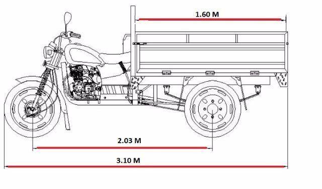 Triciclo Cargo 150cc PA-Belem - Foto 7