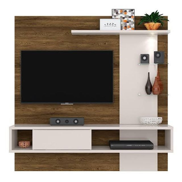 Painel tv com led , vidro temperado e bancada - Foto 2