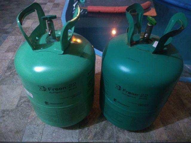 Garrafa de gás r22