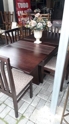 Mesas elástica madeira maciça