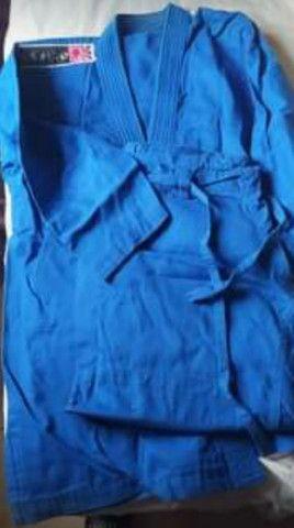 Kimono azul adulto  - Foto 3