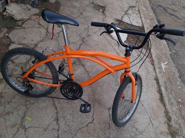 Vendo Bicicleta Nova Só Está Suja aceito Proposta Celular  - Foto 4
