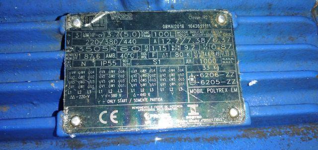 Vendo 2 bombas 5cv semi novas KSB - WEG - Foto 2