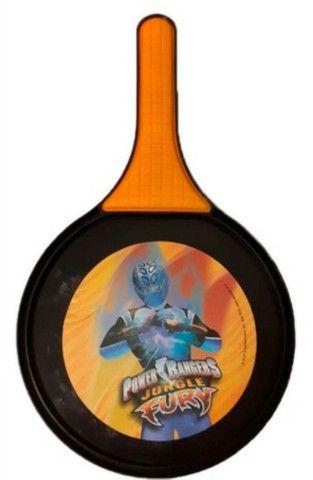 Raquete de Frescobol Power Rangers Jungle Fury com bola - Foto 2