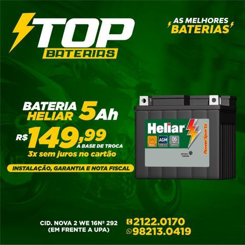 Bateria heliar HTZ6L moto