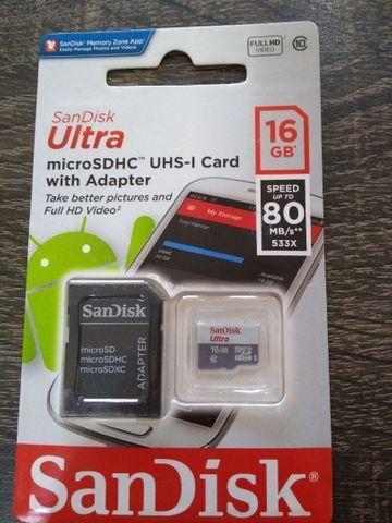 Cartão de Memória SanDisk Ultra 16gb Classe 10 Micro SDHC