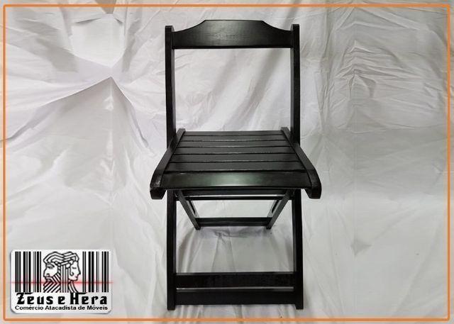 Conjunto Mesa Bar Restaurante Lanchonete Dobrável 70x70 Com 4 Cadeiras em Madeira Nobre - Foto 3
