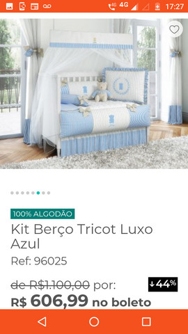Kit berço luxo - Foto 4
