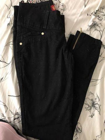 Calça Jeans Skinny Tam 36 Preta - Foto 2
