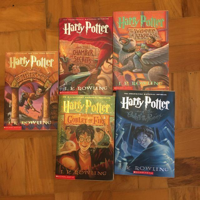 Box 5 livros pocket harry potter em ingles