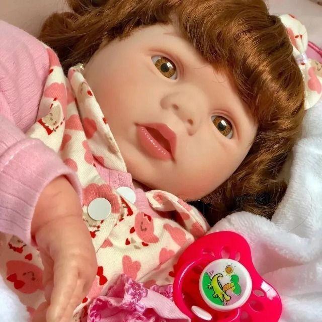 Bebe Reborn Realista Articulada e Pesada Igual Bebe de Verdade - Foto 3