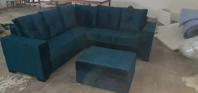 sofá L com centro grátis