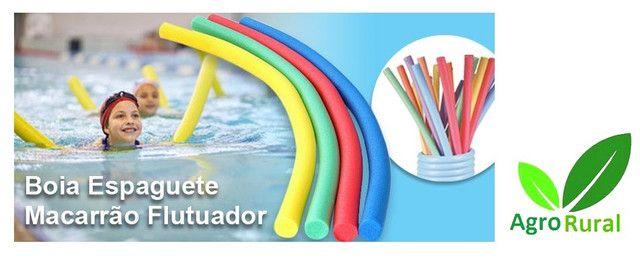 Boia Espaguete Macarrão Colorido. P/ Aprender A Nadar E Boiar. Camping Pesca Praia Piscina - Foto 2