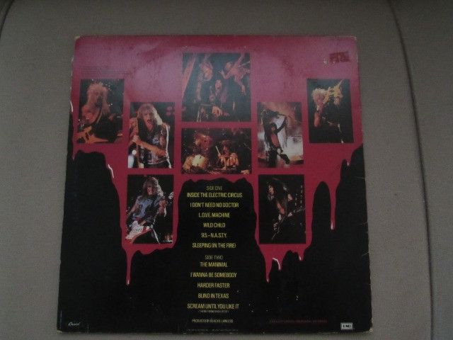 Oferta!! Lp Vinil W.a.s.p - Live In The Raw-1987 - Foto 2
