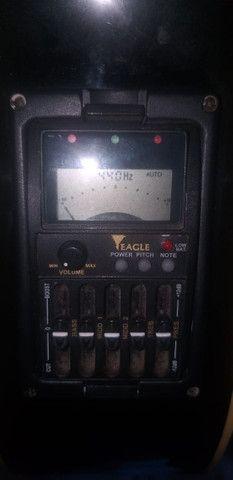 Violão eagle eletrico ch800bk canhoto - Foto 3