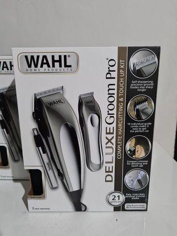 Máquina de cortar cabelo wahl groom deluxe pro barbeiro salão curso - Foto 2