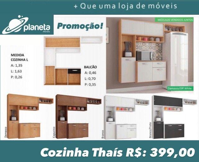 armário de cozinha Thais completo