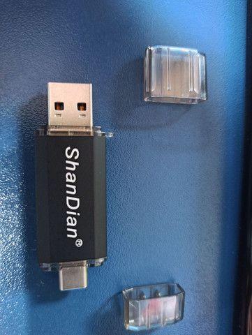 Pendrive 16gb com USB tipo C - novo