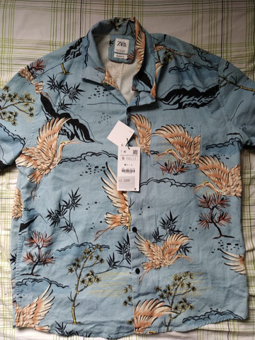 Camisa Zara - Estampa de Garça - Foto 3