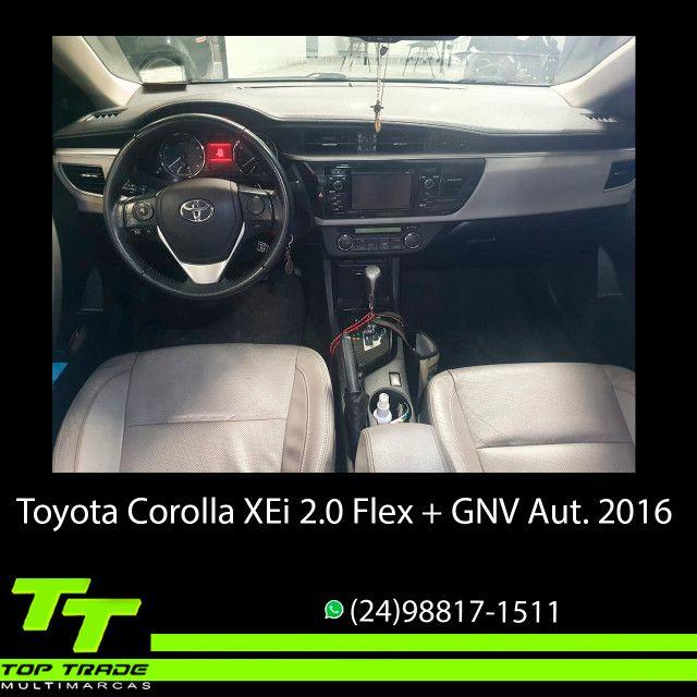 Toyota Corolla XEi 2.0 Flex + GNV Automático 2016 - Foto 7