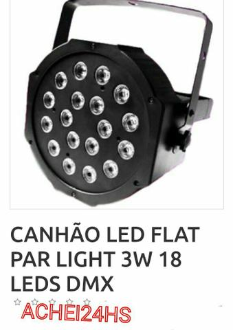 Canhão de Led flat para Light 3w 18 leds