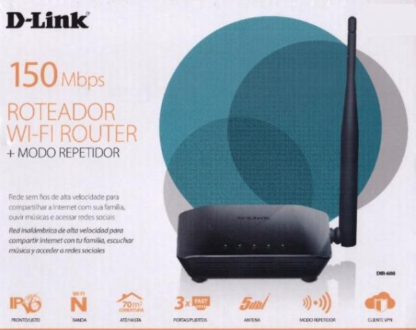 Roteador D-Link 150Mbps Wireless Novo