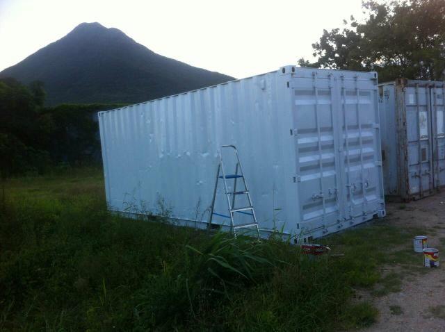 Container Palhoca 20 pes pintado