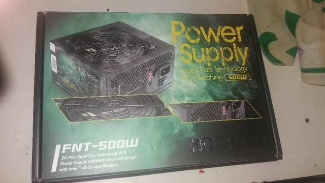 Fonte Real Nova 500 w power supply garantia de 6 meses, aceitamos cartões